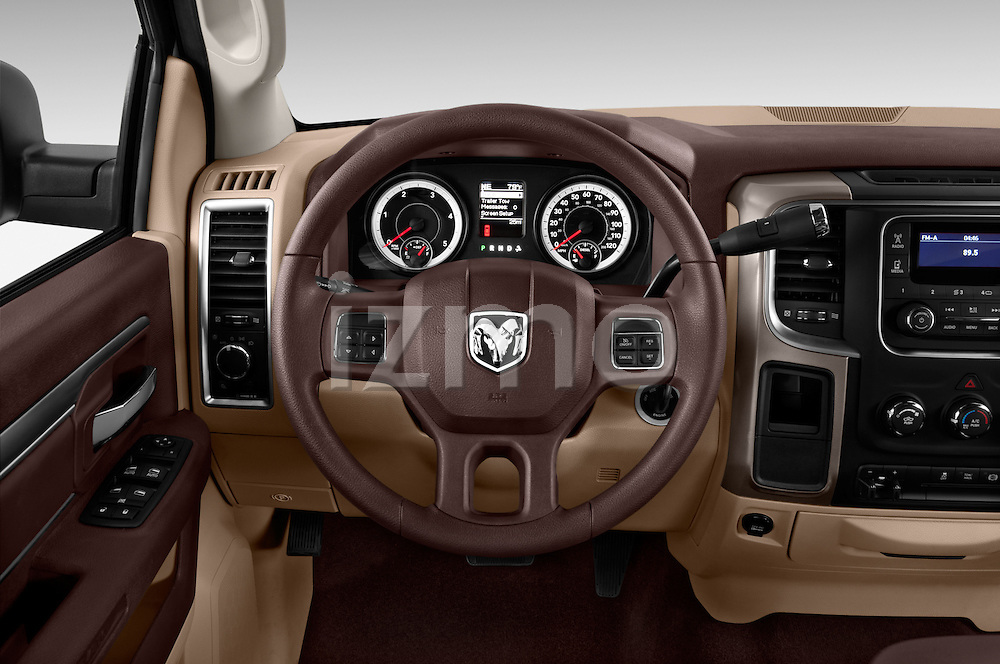 Steering wheel view of a 2013 Ram Ram 2500 SLT Crew Cab