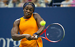 September  2, 2018:  Sloane Stephens (USA) defeated Elise Mertens (BEL)  6-3, 6-3, at the US Open being played at Billy Jean King Ntional Tennis Center in Flushing, Queens, New York. Karla Kinne/Tennisclix