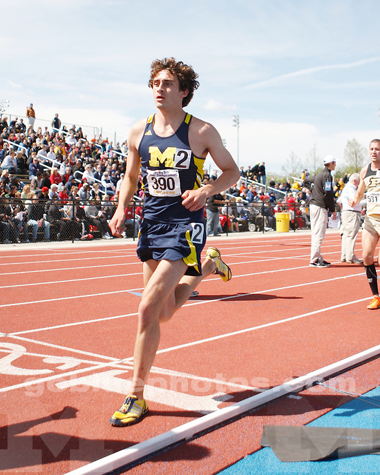 University of Michigan men's track and field finish in ninth place at the Big Ten Championships in Iowa City, IA, on May 15, 2011.