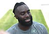 Demario Davis, New York Jets linebacker, speaks with the media on the day players reported to training camp at the Atlantic Health Jets Training Center in Florham Park, NJ on Friday, July 28, 2017.