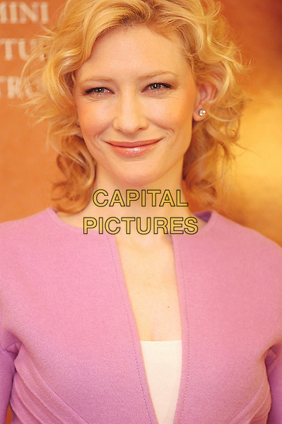 "CATE BLANCHETT.Photocall for ""The Aviator"".Hotel Hassler, Rome, Italy, January 4th 2004.                      .portrait headshot pink dress coat jacket zip kate blanchet.Ref: LC.www.capitalpictures.com.sales@capitalpictures.com.©Luca Cavallari/Capital Pictures ."