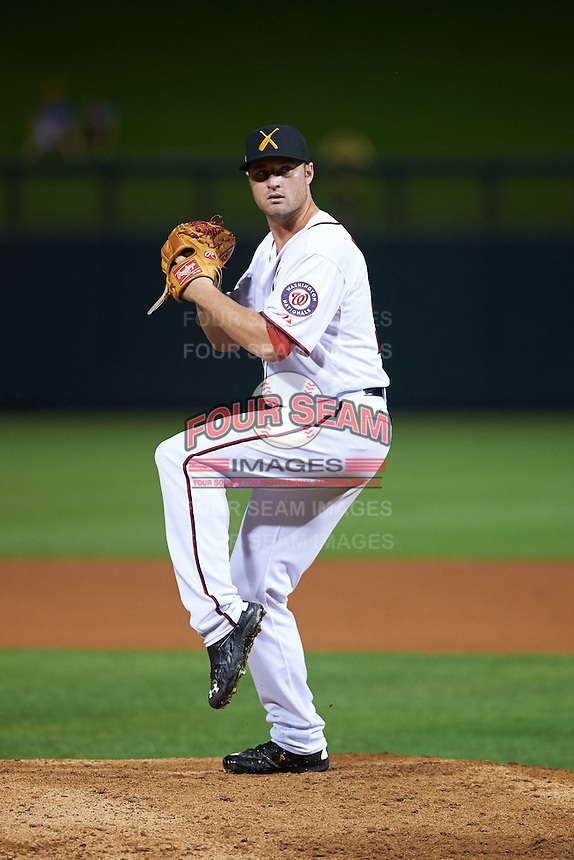 Salt River Rafters pitcher Dakota Bacus (50) delivers a pitch during an Arizona Fall League game against the Scottsdale Scorpions on October 13, 2015 at Salt River Fields at Talking Stick in Scottsdale, Arizona.  Salt River defeated Scottsdale 5-3.  (Mike Janes/Four Seam Images)