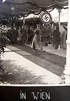 BNPS.co.uk (01202 558833)<br /> Pic: Jones&Jacob/BNPS<br /> <br /> Hitler triumphantly arriving in Vienna in March 1938 after the 'Anschluss' reunification.<br /> <br /> Springtime for Hitler...Chilling album of pictures taken by one of Hitlers bodyguards illustrates the Nazi dictators rise to power.<br /> <br /> An unseen album of photographs taken by a member of Hitlers own elite SS bodyguard division in the years leading up to the start of WW2.<br /> <br /> The 1st SS Panzer Division 'Leibstandarte SS Adolf Hitler' or LSSAH began as Adolf Hitler's personal bodyguard in the 1920's responsible for guarding the Führer's 'person, offices, and residences'.