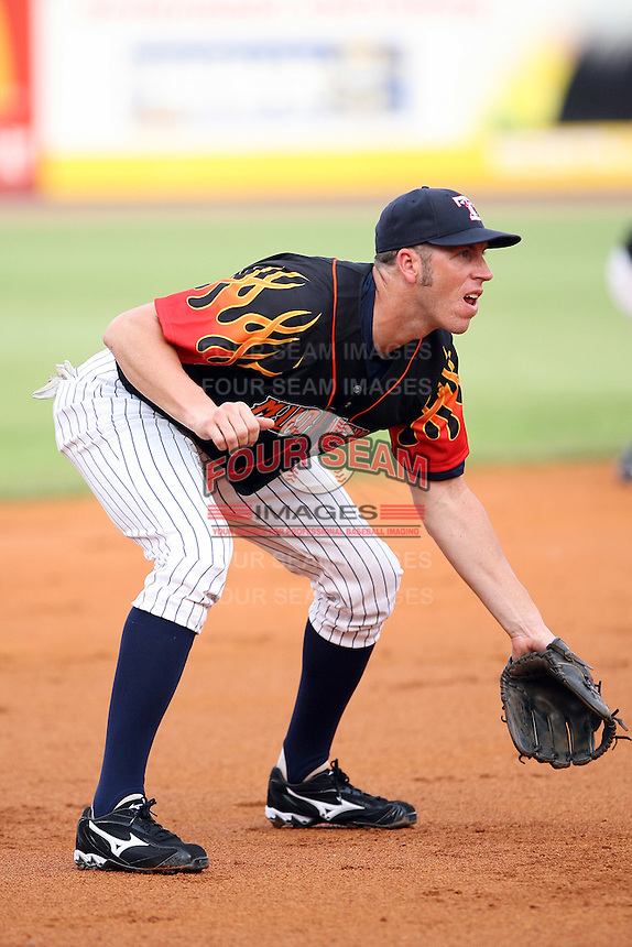 June 12th 2008:  Mike Hessman of the Toledo Mudhens, Class-AAA affiliate of the Detroit Tigers, during a game at Fifth Third Field in Toledo, OH.  Photo by:  Mike Janes/Four Seam Images