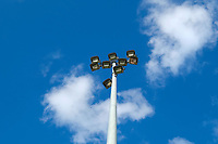 Flood lights ahead of Crawley Town vs MK Dons, Sky Bet EFL League 2 Football at Broadfield Stadium on 3rd November 2018