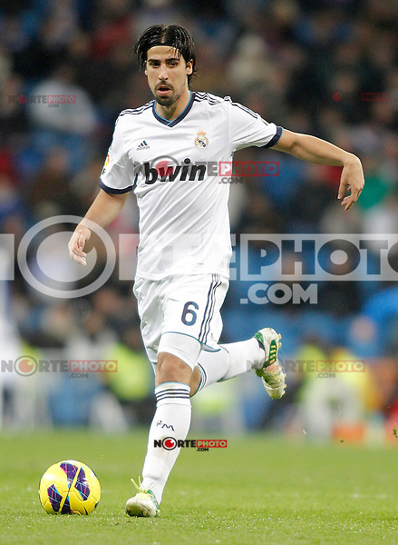 Real Madrid's Sami Khedira during La Liga match. December 16, 2012. (ALTERPHOTOS/Alvaro Hernandez)