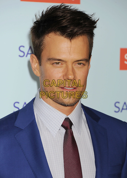 "Josh Duhamel.""Safe Haven"" Los Angeles Premiere held at the TCL Chinese Theatre, Hollywood, California, USA..February 5th, 2013.headshot portrait white check shirt blue stubble facial hair .CAP/ROT/TM.©Tony Michaels/Roth Stock/Capital Pictures"