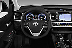 Car pictures of steering wheel view of a 2017 Toyota Highlander SE 5 Door SUV Steering Wheel