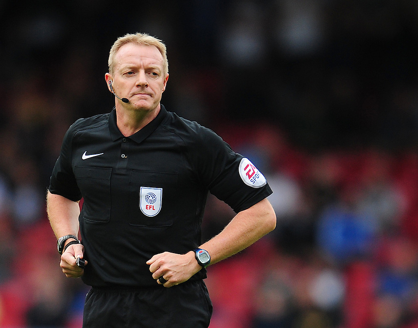 Referee Trevor Kettle<br /> <br /> Photographer Kevin Barnes/CameraSport<br /> <br /> The EFL Sky Bet League One - Walsall v Bolton Wanderers - Saturday 17th September 2016 - Banks's Stadium - Walsall<br /> <br /> World Copyright &copy; 2016 CameraSport. All rights reserved. 43 Linden Ave. Countesthorpe. Leicester. England. LE8 5PG - Tel: +44 (0) 116 277 4147 - admin@camerasport.com - www.camerasport.com