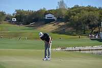 Keegan Bradley (USA) watches his putt on 12 during round 1 of the World Golf Championships, Dell Match Play, Austin Country Club, Austin, Texas. 3/21/2018.<br /> Picture: Golffile | Ken Murray<br /> <br /> <br /> All photo usage must carry mandatory copyright credit (&copy; Golffile | Ken Murray)