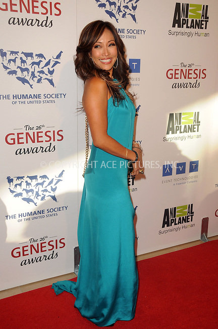 WWW.ACEPIXS.COM . . . . .  ....March 24 2012, LA....Carrie Ann Inaba arriving at the 26th Annual Genesis Awards at The Beverly Hilton Hotel on March 24, 2012 in Beverly Hills, California. ....Please byline: PETER WEST - ACE PICTURES.... *** ***..Ace Pictures, Inc:  ..Philip Vaughan (212) 243-8787 or (646) 769 0430..e-mail: info@acepixs.com..web: http://www.acepixs.com