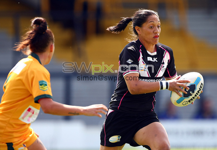 PICTURE BY VAUGHN RIDLEY/SWPIX.COM - Rugby League - Festival of World Cups, Women's Final - Australia Women v New Zealand Women - Headingley, Leeds, England - 14/07/13 - New Zealand's Sarina Fiso.