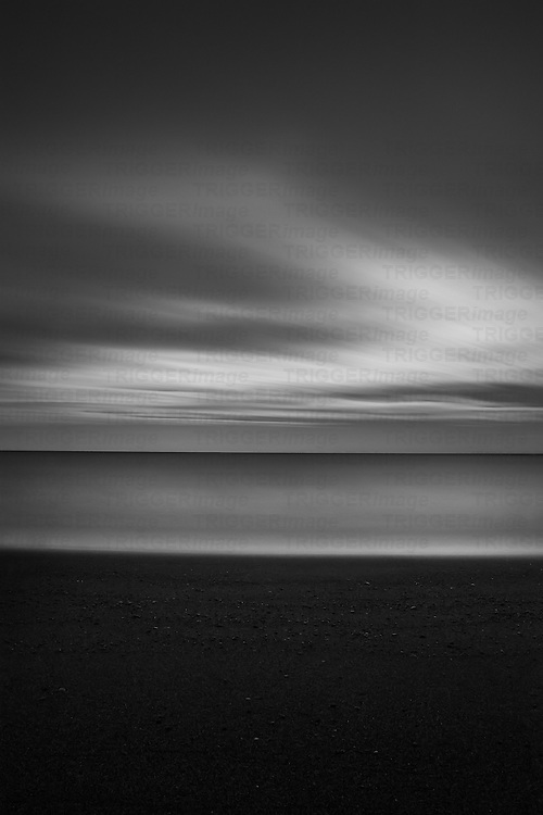 British coastal scene with long exposure