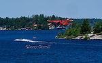 Seaplane landing in Muskoka Bay