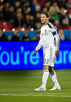 13 April 2011: Los Angeles Galaxy midfielder David Beckham #23 in action during an MLS game between Los Angeles Galaxy and the Toronto FC at BMO Field in Toronto, Ontario Canada..The game ended in a 0-0 draw.