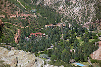 Aerial of Glen Eyrie Castle Colorado Springs. July 16, 2012