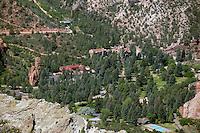 Aerial of Glen Eyrie Castle Colorado Springs. July 16, 2012
