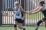 Santa Barbara, CA 02/18/12 - Molly Budge  (Cal Poly SLO #13) in action during the 2012 Santa Barbara Shootout.  Colorado defeated Cal Poly SLO 8-7.