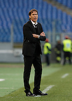 Calcio, Serie A: Roma vs Atalanta. Roma, stadio Olimpico, 29 novembre 2015.<br /> Roma's coach Rudi Garcia gives indications to his players during the Italian Serie A football match between Roma and Atalanta at Rome's Olympic stadium, 29 November 2015.<br /> UPDATE IMAGES PRESS/Isabella Bonotto
