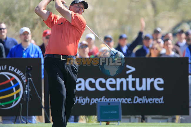 Phil Mickelson (USA) in action during Day 2 of the Accenture Match Play Championship from The Ritz-Carlton Golf Club, Dove Mountain, Thursday 24th February 2011. (Photo Eoin Clarke/golffile.ie)