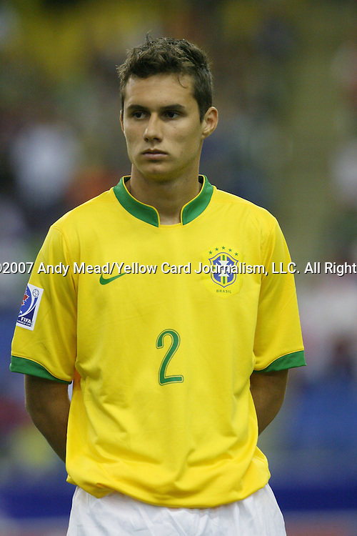 30 June 2007: Brazil's Eduardo. At Le Stade Olympique in Montreal, Quebec, Canada. Poland's Under-20 Men's National Team defeated Brazil's Under-20 Men's National Team 1-0 in a Group D opening round match during the FIFA U-20 World Cup Canada 2007 tournament.