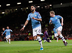 Riyad Marhez of Manchester City celebrates scoring their second goal during the Carabao Cup match at Old Trafford, Manchester. Picture date: 7th January 2020. Picture credit should read: Darren Staples/Sportimage