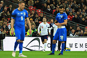 27th March 2018, Wembley Stadium, London, England; International Football Friendly, England versus Italy; Lewis Cook of England comes on to make in debut