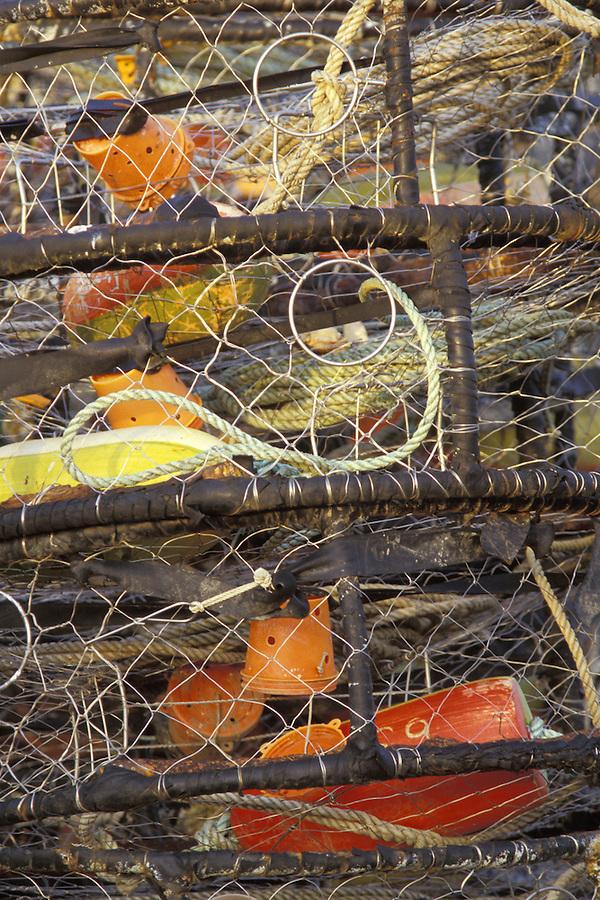 Stacked crab traps, Westhaven, Washington