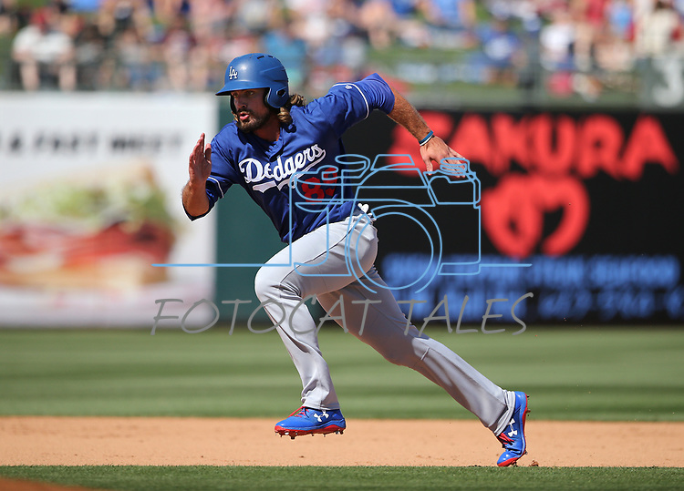 Images from a spring training game between the Los Angeles Dodgers and the Kansas City Royals in Surprise, Ariz., on Friday, March 23, 2018. <br /> Photo by Cathleen Allison/Nevada Momentum