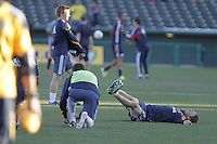 David Beckham. The Los Angeles Galaxy fell 3-2 against the New England Revolution, on the opening day of the Desert Diamond Cup Soccer Stadium in Kino David Beckham, LA Galaxy