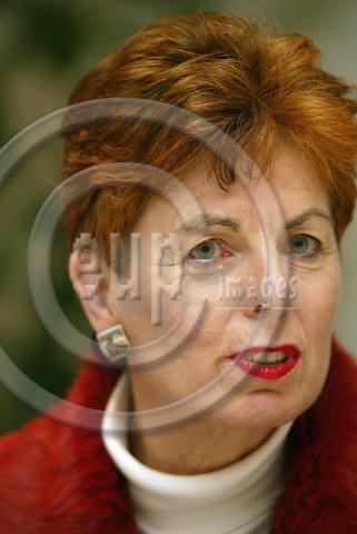 Belgium---Brussels---Dorint Hotel      05.02.2003.Dr. Angelika SCHWALL-D?REN (Dueren, Dueren),  deputy leaders of the parliamentary group of the SPD   .Portrait . PHOTO: EUP-IMAGES.COM / ANNA-MARIA ROMANELLI
