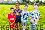 Doedhon Tenzindorjee, Daniel Farmer, Jack Donovan and Tommy Byrne enjoying the St Bridgets Community Centre fun evening in Marion Park on Tuesday