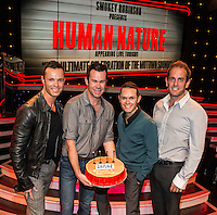 LAS VEGAS, NV - November 25 : Andrew Tierney, Phil Burton, Michael Tierney and Toby Allen of .Human Nature pictured before their final show at The Human Nature Theater at Imperial Palace on November 25, 2012 in Las Vegas, Nevada. Human Nature will make a special announcement soon about future performances in Las Vegas. Credit Kabik/ Starlitepics / MediaPunch Inc. /NortePhoto
