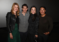 """Los Angeles - JANUARY 8: Laura Dern, Alex Honnold and directors Elizabeth Chai Vasarhelyi, and Jimmy Chin attend an IMAX screening of National Geographic's """"Free Solo"""" at the AMC Century City 15 on January 8, 2019 in Los Angeles, California. (Photo by Frank Micelotta/National Geographic/PictureGroup)"""