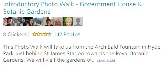 Meetup Photowalk - This Photo Walk will take us from the Archibald Fountain in Hyde Park Just behind St James Station towards the Royal Botanic Gardens. We will visit the gardens of... LEARN MORE<br />