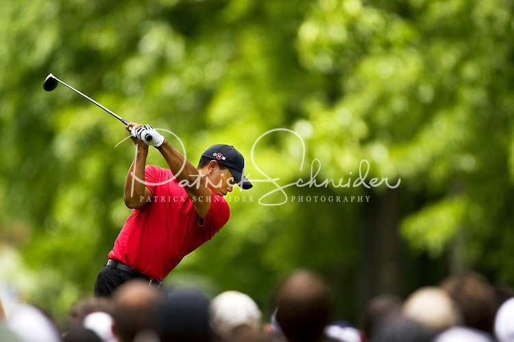 Golfer Tiger Woods works the course during the Quail Hollow Championship golf tournament 2009. The event, formerly called the Wachovia Championship, is a top event on the PGA Tour, attracting such popular golf icons as Tiger Woods, Vijay Singh and Bubba Watson. Photos from the final round in the Quail Hollow Championship golf tournament at the Quail Hollow Club in Charlotte, N.C., Sunday, May 03, 2009.