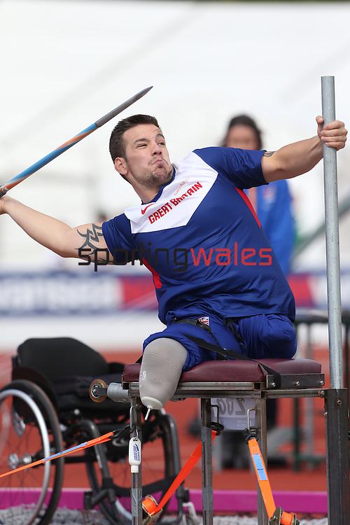 IPC European Athletics Championship 2014<br /> Nathan Stephens GBR<br /> Men's Javelin F57<br /> Swansea University<br /> 20.08.14<br /> &copy;Steve Pope-SPORTINGWALES