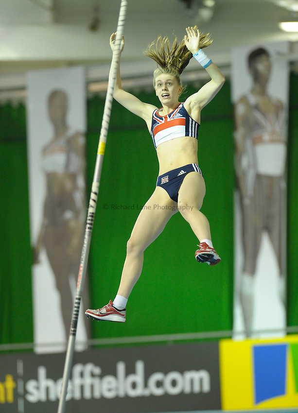 Photo: Ady Kerry / RichardLane Photography.womens polevault Aviva European Trials & UK Championships Athletics, 14/02/2009