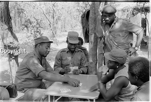 Guinea-Bissau - PAIGC soldiers playing cards - 1973