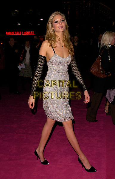 "TAMSIN EGERTON.The UK Film Premiere of ""St. Trinian's"" held at the Empire Leicester Square, London, England..December 10th 2007.full length silver beaded dress black arm-warmers arm warmers black.CAP/CAN.©Can Nguyen/Capital Pictures"