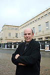 Jim Eyre of Wilkinson Eyre, architects, in front of the New Bodleian Library to be called the Weston Library. Broad Street, Oxford, during the FT Weekend Oxford Literary Festival, Oxford, UK. Thursday 26 March 2014.<br /> <br /> PHOTO COPYRIGHT Graham Harrison<br /> graham@grahamharrison.com<br /> <br /> Moral rights asserted.<br /> <br /> PHOTO COPYRIGHT Graham Harrison<br /> graham@grahamharrison.com<br /> <br /> Moral rights asserted.