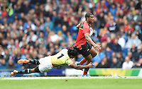 Papua New Guinea's Stanis Susuve evades the tackle of  Sri Lanka's Anuruddha<br /> <br /> Papua New Guinea Vs Sri Lanka - Men's bowl quarter final<br /> <br /> Photographer Chris Vaughan/CameraSport<br /> <br /> 20th Commonwealth Games - Day 4 - Sunday 27th July 2014 - Rugby Sevens - Ibrox Stadium - Glasgow - UK<br /> <br /> © CameraSport - 43 Linden Ave. Countesthorpe. Leicester. England. LE8 5PG - Tel: +44 (0) 116 277 4147 - admin@camerasport.com - www.camerasport.com