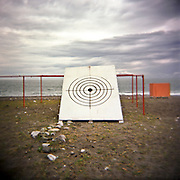 A huge target at the beach. Gagra town. Abkhazia.2009