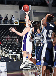 Prairie View A&M Lady Panthers guard Siarra Soliz (10) in action during the SWAC Tournament game between the Prairie View A&M Lady Panthers and the Jackson State Tigerettes  at the Special Events Center in Garland, Texas. Prairie View defeats Jackson State 56 to 40.