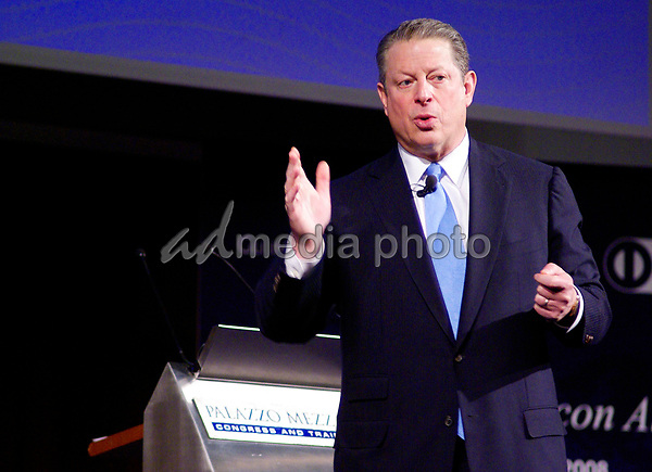 10 December 2008 - Milan, Italy - Al Gore. Al Gore speaks in Milan. Photo Credit: Marco Becker/Marka/AdMedia