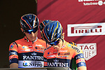 Nippo-Vini Fantini-EUR.OV. at sign on in Fortezza Medicea before the start of Strade Bianche 2019 running 184km from Siena to Siena, held over the white gravel roads of Tuscany, Italy. 9th March 2019.<br /> Picture: Eoin Clarke | Cyclefile<br /> <br /> <br /> All photos usage must carry mandatory copyright credit (© Cyclefile | Eoin Clarke)