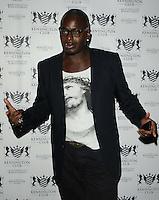 Ben Ofoedu.attended the Kensington Club new boutique nightclub launch party, The Kensington Club, High Street Kensington, London, England,.20th July 2012..half length glasses white jesus t-shirt black jacket blazer .CAP/CAN.©Can Nguyen/Capital Pictures.