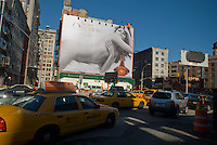 A Calvin Klein billboard for his Secret Obsession brand perfume in the Soho neighborhood of New York on October 26, 2008.  Klein's advertisements use sex and provocative images to test society's cultural and moral boundries. (© Richard B. Levine)