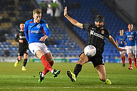 Ross McCrorie of Portsmouth has a shot on goal during Portsmouth vs Northampton Town, Leasing.com Trophy Football at Fratton Park on 3rd December 2019
