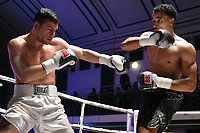 Ellis Zorro (black shorts) defeats Toni Bilic during a Boxing Show at York Hall on 3rd March 2018